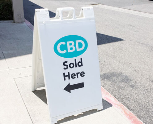CBD retail sign